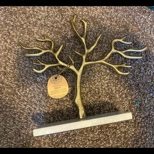Gold tree jewelry stand organizer
